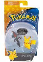 Pokemon TOMY Salandit Vs Pikachu Mini Figure Set NEW