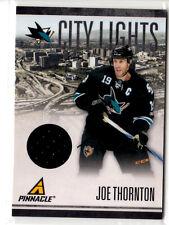 Joe Thornton    City Lights game used jersey card  #235/499