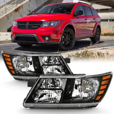 09-18 Dodge Journey [Factory Style] Black Replacement Headlight Lamp LEFT+RIGHT