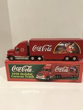 Coca Cola 1998 Holiday Caravan Truck with lights Limited Edition With Box