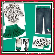 NWT 12-18 Gymboree FANCY DALMATIAN TUTU-BERET-TURTLENECK-JEANS-SHOES (size 4)