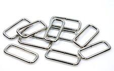 10x Vierkantring Durchzug Stahl-vernickelt 30x10,4mm
