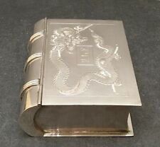 Japanese Meiji Sterling Silver Box in a shape of a Book, Signed