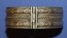 Antique Hinged Cuff Bangle Silver Bracelet