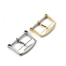 Watch Stainless Steel Buckle 12 16 18mm Leather Bands Silver Gold Brushed Clasps