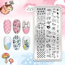 Born Pretty Animal Patrón Stamping Placa Flor Nail Art imagen Sello de la plantilla
