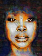 Erykah Badu Soul Funk R&b cartel de impresión de arte pintura al óleo LFF0043
