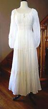 Vintage 70s Gunne Sax Jessica Prairie Corset Wedding Renaissance Hippie Dress 13