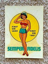 Vintage Armed Service Moral Builders Decal: US Marine Corps Semper Fidelis
