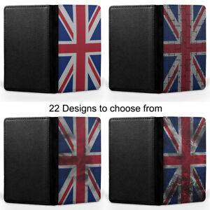UK British United Kingdom Flag Passport Holder Faux Leather Cover Case