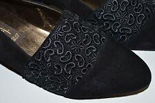 Damen Pumps Apart made in Germany 90er TRUE VINTAGE 90´s Stickerei black schwarz