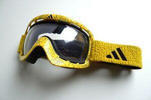 Adidas ID2 Goggles Ski/Snowboard/MTB/MX Bike Yellow/Black Addidas Clear Lens
