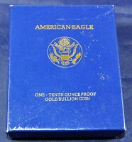 1990 American Eagle 1/10th Ounce Proof Gold Bullion Coin - BOX, COA ONLY-NO COIN
