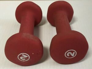 Barbell Neoprene Dumbbell Weights 2Lb x2 Pound Pink Set - used