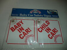 Baby In Car And Child In Car Safety Signs With Suction Disks