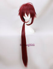 Idolish 7 Riku Nanase 90cm Long Straight Deep Red Cosplay Wig + a Wig Cap