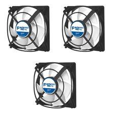 3 x confezione di Arctic Cooling F12 TC 120mm Custodia Pro Fan, 1300 RPM