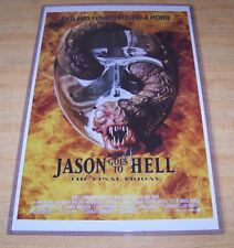 Friday the 13th Jason Goes to Hell Jason Voorhees 11X17 Original Movie Poster