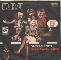 """MIDDLE OF THE ROAD SACRAMENTO / LOVE SWEET LOVE 1972 RECORD YUGOSLAVIA 7"""" PS"""