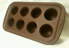Wilton Silicone Brownie Pop Mold Pan Round Cake Baking 8 Brown Kitchen Egg Shape