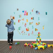 Wall Stickers Children Alphabet Education Animal Home Art Decoration