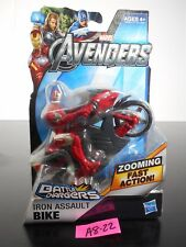 NEW! MARVEL AVENGERS IRON ASSAULT BIKE BATTLE CHARGERS ZOOMING FAST ACTION A8-22