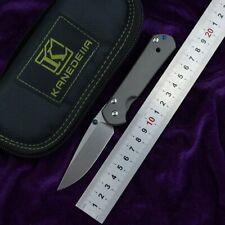 Kanedeiia small sebenza 21 plain folding knife blade s35vn titanium handle Campi