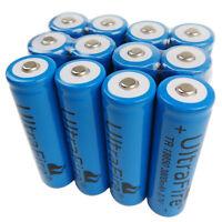 12 Pcs 3.7V 18650 Battery 3800mAh Li-ion Rechargeable for Flashlight Torch LED