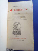 OEUVRES DE A DE LAMARTINE- BEAUTIFUL LEMERRE PARIS - XRARE ca 1878  ANTIQUE BOOK