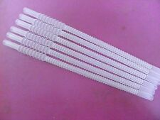 NEW Tupperware LONG Whistle STRAWS *Sheer/Clear* Set of 6~Re-Usable~Bendable