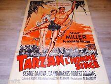 TARZAN L'HOMME SINGE  !  affiche cinema  1959