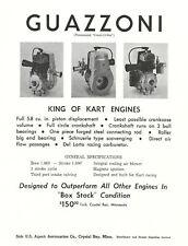 Vintage 1960's Guazzoni Go-Kart Engine Brochure