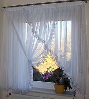 Exklusive & Moderne Gardine 4m x 1,55m ,Weiß ,Makramee Spitze , NEU