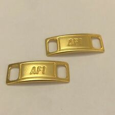 Original AF1 Nike Gold Dubraes Shoelace Airforce 1 Butterfly