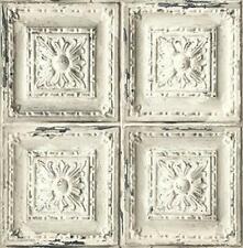 "Wallpaper Faux Tin Tile Rustic Wall Decor- 20.5"" x 396"" Roll (56 sq ft)"
