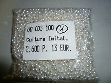 2600 Stück Perlen 3mm Cultura Imitat  erstklassige Qualität Nr. 4