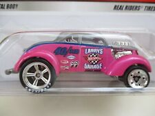 HOT WHEELS - LARRY'S GARAGE CHASE INITIALS - PASS 'N GASSER DRAG CAR REAL RIDERS