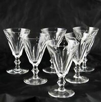 """6 Waterford Crystal Galtee Sheila White Wine Claret Glasses 5"""" Signed Multiple"""