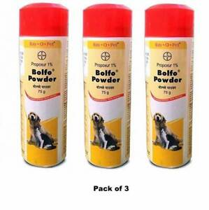 Bayer Bolfo Anti Tick & Flea Powder For Dogs & Cats - 75gm x 3 (Pack of 3)
