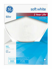 GE  60 watts G40  Globe  Incandescent Bulb  E26 (Medium)  Soft White  1 pk