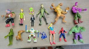 Mixed Lot Of 14 Vintage & Modern Action Figures TMNT, Marvel, DC,  more