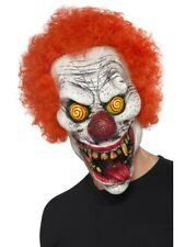 Clownmaske Psycho Saw Latex mit Perücken Horrorclown