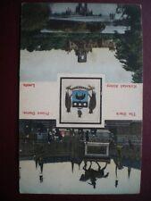 POSTCARD YORKSHIRE LEEDS - C1900 BADGE - BLACK PRINCE STATUE - KIRKSTALL ABBEY