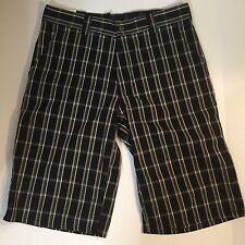 NEW Dickies Men's Multi-Use Black Plaid Pocket Shorts Regular Fit Sz 30