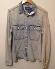 topman denim shirt Medium Faded Blue Boxy Fit NEW RRP £36