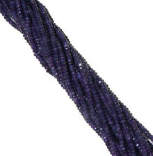 Amethyst 4mm Faceted Dyed Gemstone Rondelle Beads 15 Inch Loose
