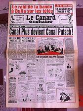Le Canard Enchainé 16/02/1994; Canal plus devient Canal Putsch, la bande à Balla