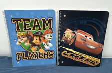 [2 Pack] Paw Patrol Team And Cars Ruled 50-Sheet 1-Espiral Notebooks Bundle Set