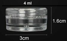 Sample Pots Container Small Empty Clear Plastic Jar Round Cosmetic Glitter 5ml