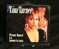 """TINA TURNER: Private Dancer / Nutbush City Limits 7"""" Record 45 w/ Picture Sleeve"""